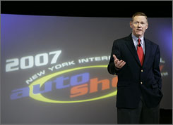 """Ford's Alan Mulally said he thought the economy looked """"pretty good"""" through the remainder of the year."""