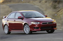 The 2008 Mitsubishi Lancer could use some improving.