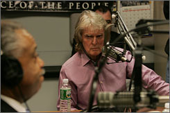 Radio host Don Imus appears on the Rev. Al Sharpton's radio show earlier this week.