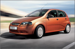 Sales of the Chevy Aveo rose 53% year-over-year in March.