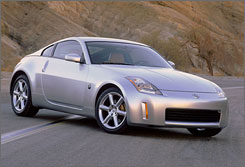 Nissan 350Z, a midsize sports car, received a high death rate in the Insurance Institute for Highway Safety's report.