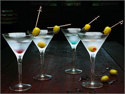 Jambu's Bar in the Raffles Resort of the Canouan Island offers four different 'theme' martinis, each armed with a 14-karat gold handmade sword the size of a swizzle stick. Price: $300