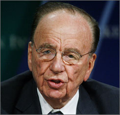 News Corp. CEO Rupert Murdoch takes part in the 'Global Overview' panel discussion during the 10th Milken Institute Global Conference in Beverly Hills, California April 24, 2007.
