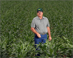 Texan Ronnie Gerik is shifting a large percentage of his cotton acreage to corn production because of the rising demand for corn to produce ethanol for fuel.