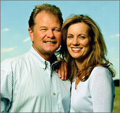 Curves founders Gary and Diane Heavin.