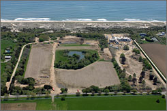 Construction is underway on the estate of Ron Baron, founder of the Baron Funds, on Tuesday in East Hampton, N.Y.