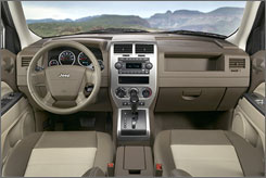 Seats on the Jeep Patriot, whether leather or cloth look and feel nice.