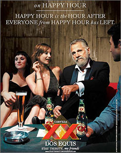 "Ads will feature a sophisticate billed as ""the most interesting man in the world"" who says, ""Stay thirsty, my friends."""