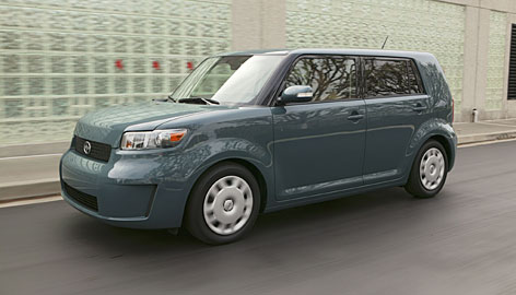 The Scion xB has grown. It has about the same amount of passenger space as a Toyota Camry.