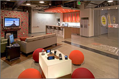 Interpublic Group's Emerging Media Lab is a tech-equipped living room that helps staffers stay up-to-date on changing technology.