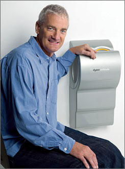 James Dyson's Airblade, which dries hands in about six seconds, will sell for $1,400 in the USA.