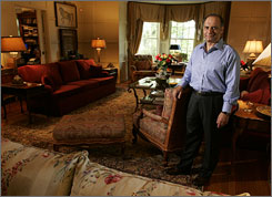 Farooq Kathwari, CEO of Ethan Allen Interiors at home in New Rochelle, N.Y. About 90% of the home's furniture came from company's line.