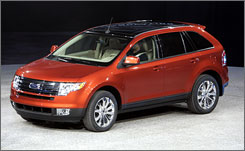 The Ford Edge received top honors in the crossover-utility vehicle category. Other  models from Detroit automakers winning top spots in the study: Ford  Mustang, Cadillac Escalade EXT and GMC Sierra