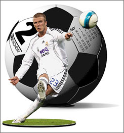 On July 24, soccer star David Beckham plays his first game with the Los Angeles Galaxy.