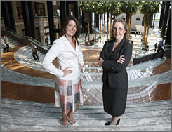Merrill Lynch's Kerry Cannella, right, teamed with associate Selma Bueno, who is from Brazil, to close a deal between a Brazilian bank and U.S. investors.