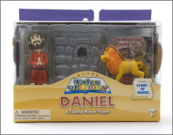 Wal-Mart will offer a set of religious toys including this figurine set depicting the story of Daniel.