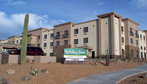 The Holiday Inn in Fountain Hills, Ariz., has the new look.