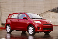 The Scion xD is an update of the xA and is based on the Yaris.