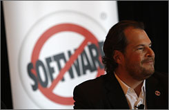 CEO Marc Benioff during Salesforce.com's shareholders meeting in San Francisco earlier this month.
