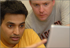P.J. Gurumohan, left, and Killian McKiernan are such good friends that they started a business together.
