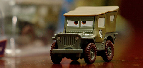 "This Sarge toy car, based on a character from the movie ""Cars,"" has surface paints that could contain too-high lead levels."