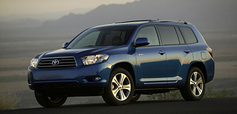 Most of the extra space in the redesigned Toyota Highlander goes to first- and second-row occupants.