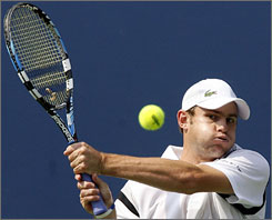 Andy Roddick, the top-ranked American at the U.S. Open, was an instant convert to the Babolat racket.