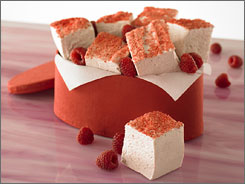 RazzVeryBerry Marshmallows is one flavor offered by Plush Puffs.
