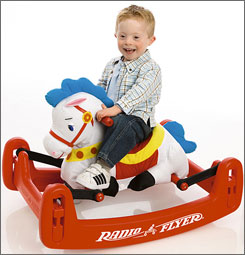The Rock 'N Bounce Pony is one item in the Toys R Us catalog for developmentally disabled children.
