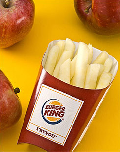 Burger King will test its Fresh Apple Fries for a possible national roll-out in the spring.