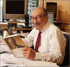 "Alan Greenspan, the former Fed chairman, dishes on his personal dealings with presidents in his new book ""The Age of Turbulence."""
