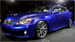 The Lexus IS F.