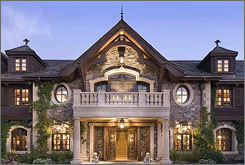 Located on the tax-free Nevada side of Lake Tahoe, this 210-acre property has a 20,000-square-foot main house, a 3,500-bottle wine cellar, an indoor swimming pool and atrium, and a 19-seat movie theater. Price tag: $100 million.