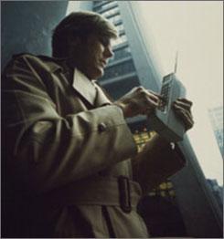 Motorola developed a prototype of a DynaTAC portable cellular phone.