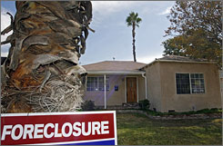 A house under foreclosure in Burbank, Calif. Countrywide says its modification of loan terms will help about 82,000 borrowers.