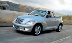 The main PT Cruiser will survive the ax at Chrysler, but the convertible version is not so lucky.