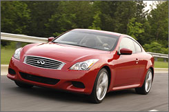 Infiniti's fantastic G37 coupe offers a classy, how-powered ride.
