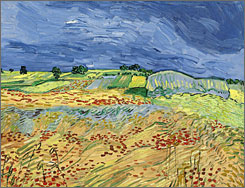 This Van Gogh landscape was among 20 works unsold at auction Wednesday.
