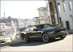 A 2008 Ford Mustang Bullitt is seen on the streets of San Francisco.