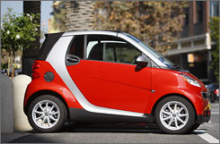 The ForTwo Passion Cabriolet is the top-of-the-line Smart car model, starting at $16,590.