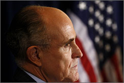 Surveyed CEOs are leaning toward Rudy Giuliani because they see him as the best hope for a GOP win.