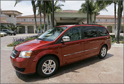 Chrysler says it is pleased with sales if its new 2008 Dodge Grand Caravan minivan, but there are signs the minivan market is cooling off.