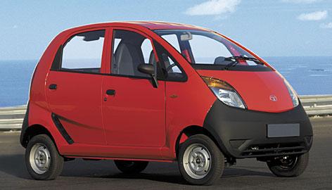India's Tata Motors introduced the $2,500 Nano at an auto show in New Delhi.