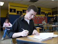 Adam Evans will attend Blackburn College in Illinois this fall, in part because the school cut tuition 15%. He is also attracted by its golf program.