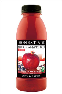 Coke is buying a major stake in Honest Tea, whose drinks include Honest Ade Pomegranate Blue.