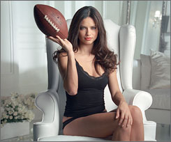 A Victoria's Secret Super Bowl commercial with model Adriana Lima aired late in the game.