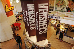 Hershey's Chocolate World in Hershey, Pa. The European Commission has contacted Hershey and Mars, seeking information on their pricing methods.