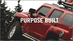 "A new ad touts Hummer as ""Purpose built"" as GM tries to counter its brand's gas-guzzling image."