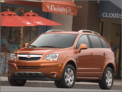 The 2008 Saturn Vue has a nice, tight driving feel, and it's a bit more fun to drive than other SUVs.