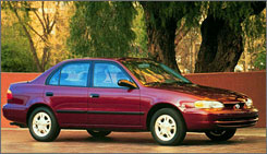 A study says the median car age in 2007 was 9.2 years. How many 1998 Chevrolet Prizms are still on the road?